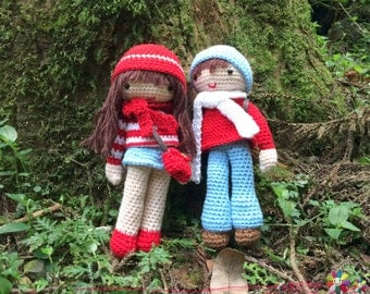 Valentine's day_Mason & Emma ,lovers ,couple , crochet Pattern ,Amigurumi , DIY