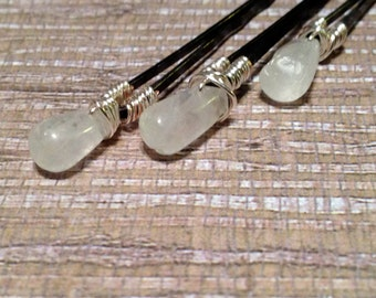 Moonstone Bobby Pins