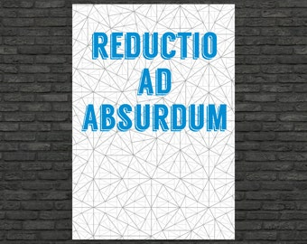 Science art - Mathematics - Reductio ad absurdum & Pinwheel tilings poster typographic prints(up to 50 x 70 and 70 x 100 cm)