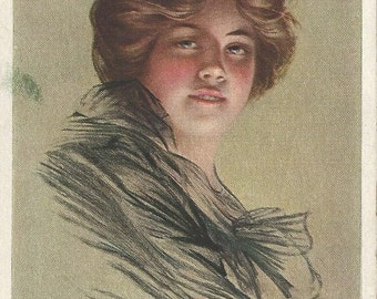 Beautiful Peggy Postcard by P. Boileau