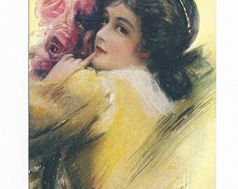 Beautiful Glamour Girl Postcard By Bryson