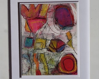 """Original modern abstract painting contemporary art decor 10"""" by MARTLEQUIN number 578"""
