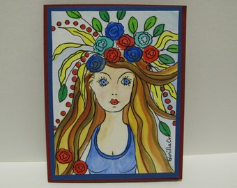 Nadia the Flying Trapeze Artist ( Card )