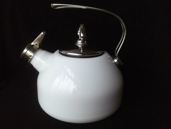 Vintage chantal enameled steel whistling tea kettle teapot - Chantal teapots ...