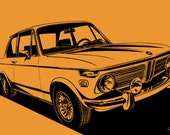 1972 BMW 2002tii. Choose your Size, Material, Color, & Customization