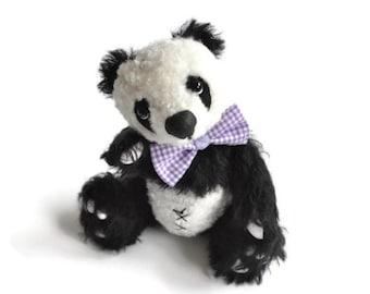 Teddy bear panda - Artist teddy bear panda - collectible OOAK bear - Panda Louis