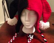 custom Harley Quinn hat