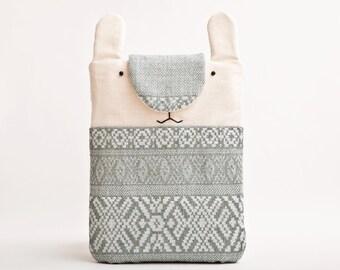Tribal iPad mini Case, Rabbit iPad mini sleeve, Tablet case, Bunny Kindle Paperwhite sleeve, kindle fire HD 6 case Gift Sister