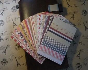 On Sale! 28 Sheets Korea Pretty Masking Sticker Set -Stickers- Colorful Sticker Set -Fabric Ver