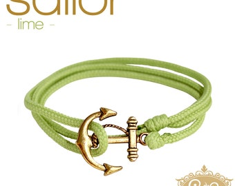 cute & twisted - lime green sailor wrap bracelet