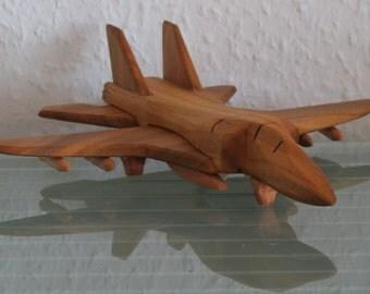 Grumman F-14 f14 fighter plane aircraft jet HANDMADE NEW wood