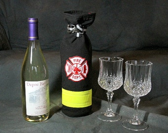 "The ""Extinguisher"" firefighter wine tote, turnout / bunker gear bag"