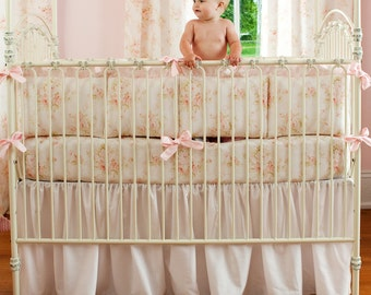 Girl Baby Crib Bedding: Shabby Chenille 3-Piece Crib Bedding Set by Carousel Designs