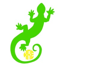 Lizzard Monogramed decal