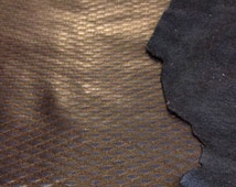 LAST ONE Reptile stamped lambskin leather in 8 sq ft full leather hides LARGE genuine leather fabric FS656-8
