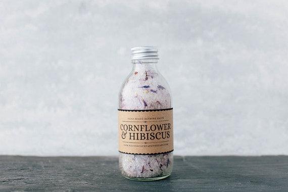 Bathing Salts - Cornflower & Hibiscus