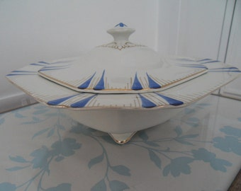 1920s Thomas Hughes & Sons Lidded Serving Dish