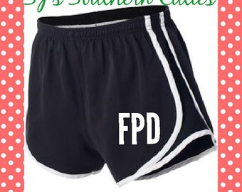 Monogram Youth Shorts - Black/White/Black