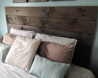 Popular items for wood headboard on etsy - Tete cherry bed ...