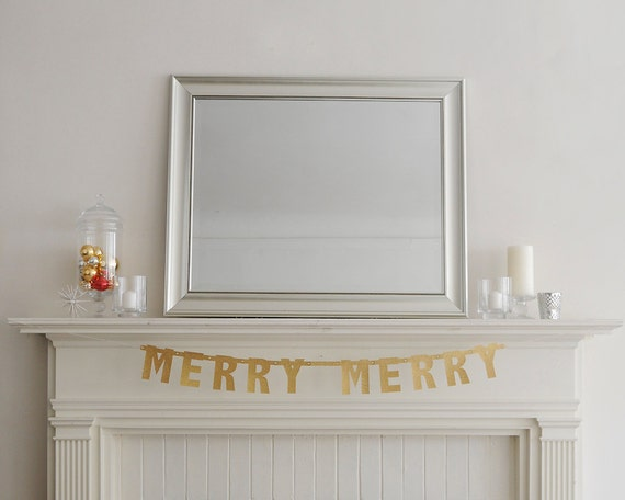 Merry Merry Christmas Banner Garland Decoration