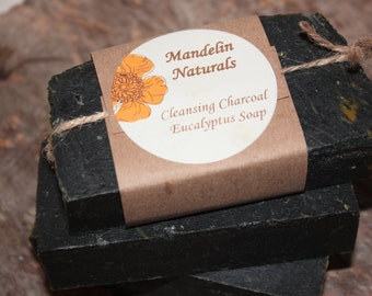 Cleansing Charcoal Eucalyptus Soap - Small Bar