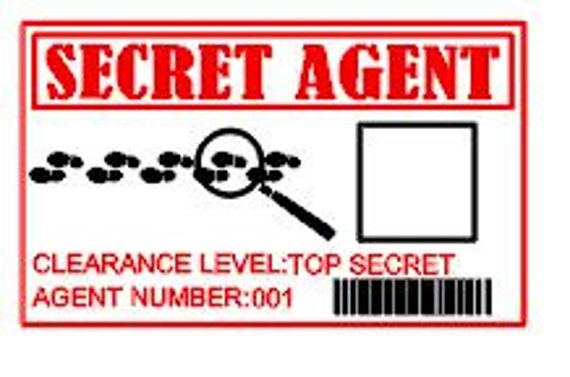 Gutsy image pertaining to secret agent badge printable