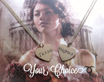 The Infernal Devices Necklace - Your Choice: Tessa Gray or Magnus Bane