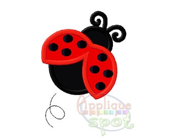 Ladybug Birthday Girl - 4x4 5x7 6x10 Applique Design Embroidery Machine -Instant Download File