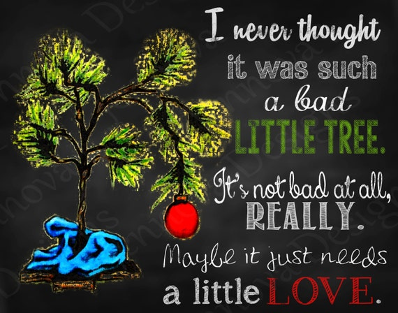 11x14 A Charlie Brown Christmas Quote Printable By