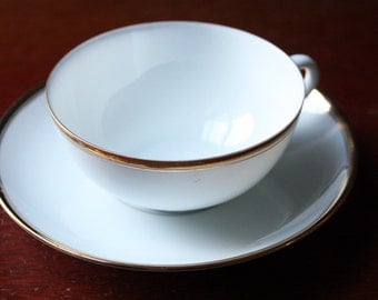 Delicate, porcelain coffee cup and saucer by Seltmann Weiden