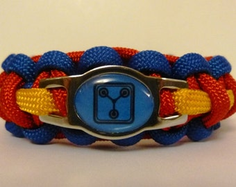 Flux Capacitor/Back to the Future Paracord Bracelet