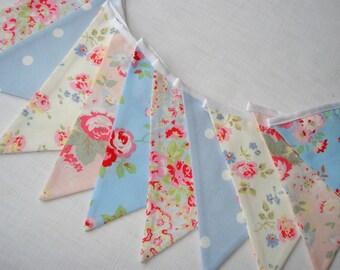 Shabby Chic Summer Bunting in Cath Kidston fabrics