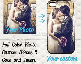 Personalized Photo iPhone 4/4s 5 Custom on Hard Case Cover Free Shipping Personalize iPhone4 IPhone5/5S/