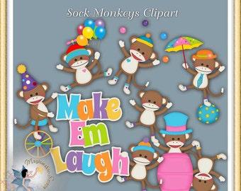 Sock Monkey Clipart