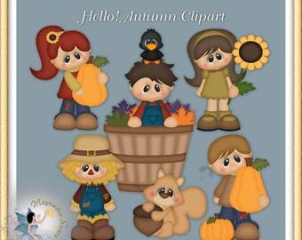 Fall Clipart, Hello Autumn Clipart