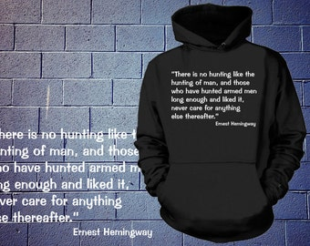 Police Sweater Hooded Funny Policeman Ernest Hemingway Hoodie Sweatshirt Christmas Gift Sweater NYPD Tee Sweater Profession T-Shirt Gift
