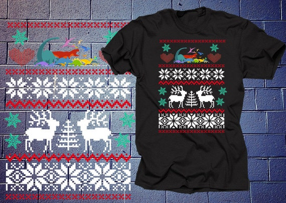 Items similar to Skiers Ugly Christmas Sweater T-shirt on Etsy