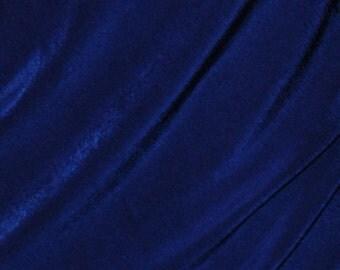 Stretch Fabric Slinky Knit Fabric Royal Blue Four way Stretch Spandex Fabric by the 1/8 1/4 or 1/2 yard # EFKL5384