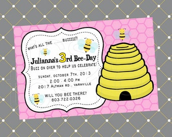 PRINTABLE Invitation - Bee-Day