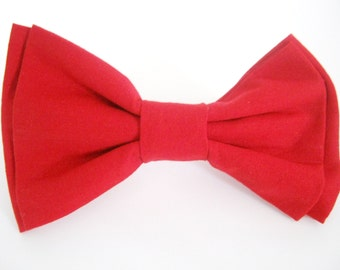 Dog Bow Tie Small Medium Large Elegant Double -Stacked Red Dog Bowtie