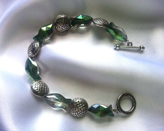 Glass Prism and Silver Piscine Bracelet 193