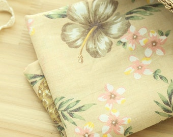Cotton Linen Fabric Pineapple Beige By The Yard