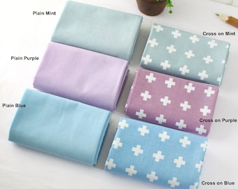 Cotton Fabric Cross in 3 Colors By The Yard