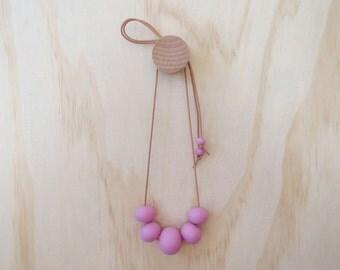 Handmade Resin Bead Necklace in PURPLE
