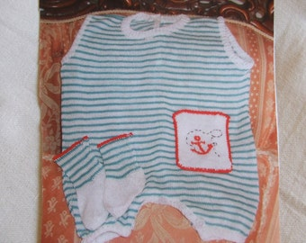 knit cotton romper babysuit baby + socks