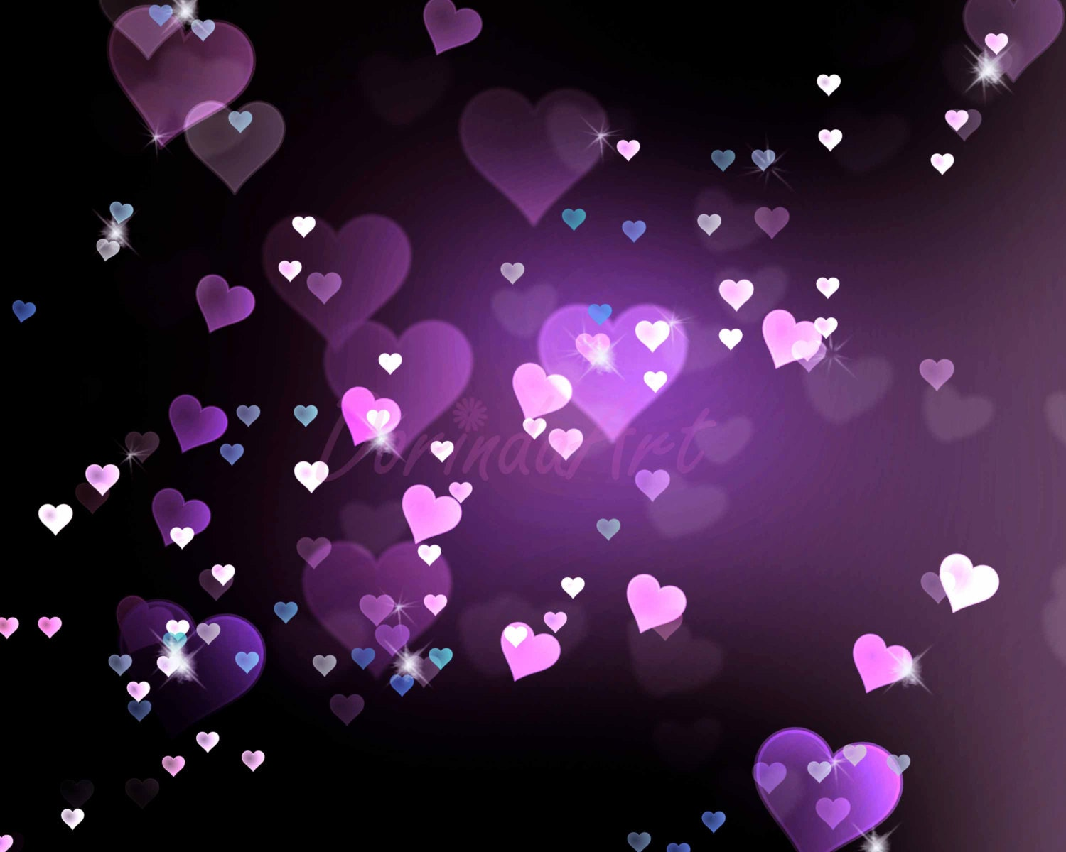 Pink Hearts And Stars Background