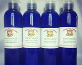 Hand and Body Lotion, Sweetgrass, made with herb infused oils, Sweetgrass Hydrosol and natural scents.