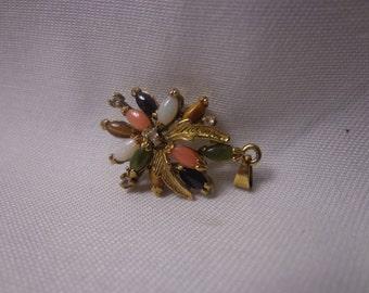 Vintage 1950s Gold-Tone Flower Charm/Pendant