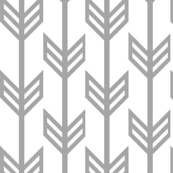 Gray Arrow Fabric By The Yard Cotton Fabric Arrow Print