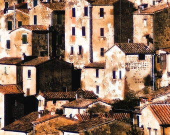Tuscany Town, Italy, Abstract Density, Homes, Rooftops